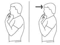 Cerv retract exercise illustration